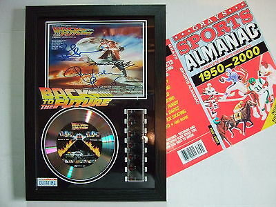 Back To The Future   Signed Film Cell Framed+Free Almanac  5876