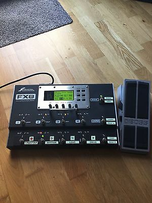 Fractal Audio FX8 Guitar Multi Effects Pedalboard + Extras