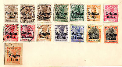 Stamps from German Occupation of Belgium 1914-18