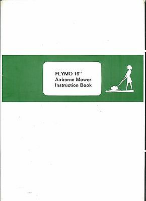 """Flymo 19"""" Airbourne Mower Instruction book"""