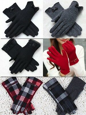 Warm wool knitted touch Screen Winter Gloves 6 Colours Fashion Women Girls