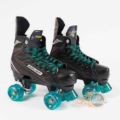 Bauer Quad Roller Skate - Supreme S140  Conversion Ventro Wheels Teal Black