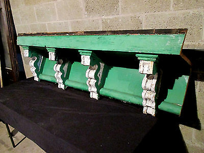 ~ Large Soffit With 4 Corbels ~ Wall Shelf Mantle ~ Architectural Salvage