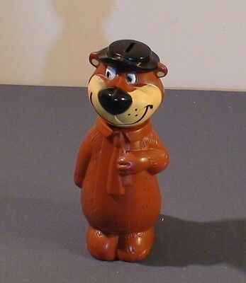 Vintage 1960's Knickerbocker Yogi Bear Figure Coin Bank  Hanna-Barbera