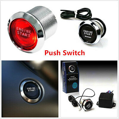 Red Illumination LED Auto SUV Engine Push Button Starter Switch Device For Honda