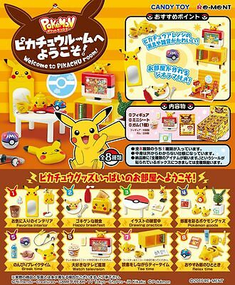 12/2016 Re-Ment Miniature PokeMon Welcome to Pikachu Room Full Set of 8 pcs