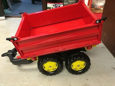 Rolly Red 4 Way Tipping Trailer For Ride On Kids Tractors