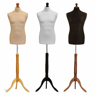Male Tailors Bust Retail Shop Display Dressmakers Dummy Mannequin Various Covers