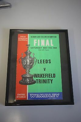 Framed Leeds v Wakefield Trinity 1968 Rugby League Championship Final Programme