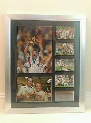 Martin Johnson/Johnny Wilkinson Signed England 2003 Rugby World Cup Photos Proof
