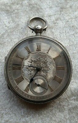 Antique Victorian Silver Engraved Cased Pocket Watch Chester 1890