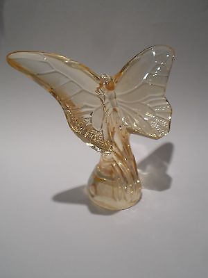 Lalique Glass - Gold Lustre  Butterfly - Brand New And Boxed