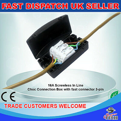Stupendous Electrical Junction Box 2A 24A 240V 3 4 Pole Terminal Block Inline Wiring 101 Archstreekradiomeanderfmnl