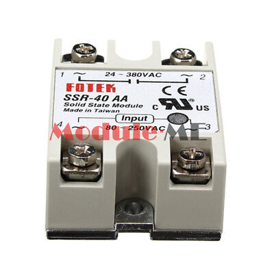 High Reliability Soild State Relay SSR-40AA AC-AC 40A 80-280VAC 24-380VAC DUK UK
