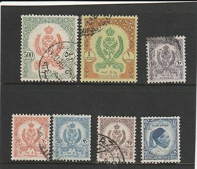 LIBYA 1955 issues , values to 500m & £L1 , fine used