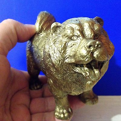 Chow Chow bronze figurine dog art bronze from Russia collectible figure