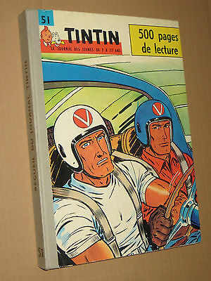 Recueil TINTIN N° 51  Reliure France SUPERBE + complet points TINTIN