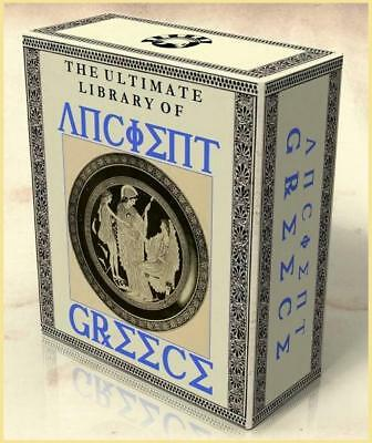 LIBRARY of ANCIENT GREECE 251 Rare Vintage Books 2 DVDs Grecian History