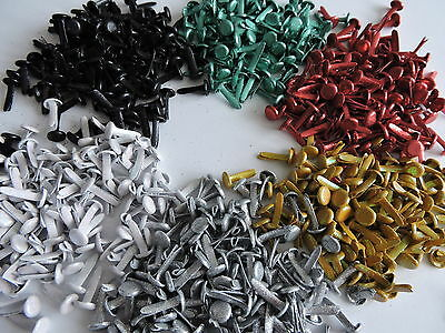 8mm Glitter Brads x 50 Available in 6 colourways