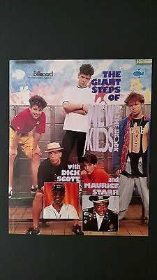 """New Kids On The Block """"the Giant Steps"""" Rare Original Print Promo Poster Ad"""