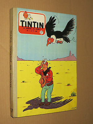 Recueil TINTIN N° 27  Reliure France SUPERBE + complet points TINTIN