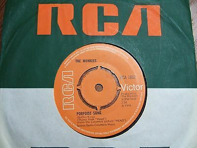 """The Monkees - Porpoise Song (Theme From 'head') -Uk 7"""" Rca 1862 /1968 Ex+"""