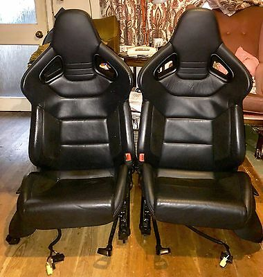 Audi S3 Black Leather Heated Recaro/Wingback/Bucket seats/interior. Fits A3, RS3