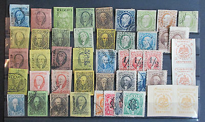 Mexico - Collection Of Early Imperfs And Overprints On Stocksheet