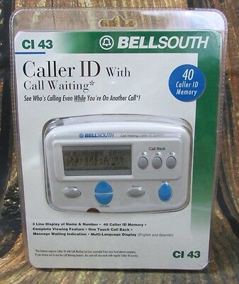 BELLSOUTH Caller ID with Call Waiting CI 43 New in Package