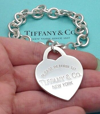 Tiffany & Co. Sterling Silver Extra Large 'Return To Tiffany' Heart Tag Bracelet
