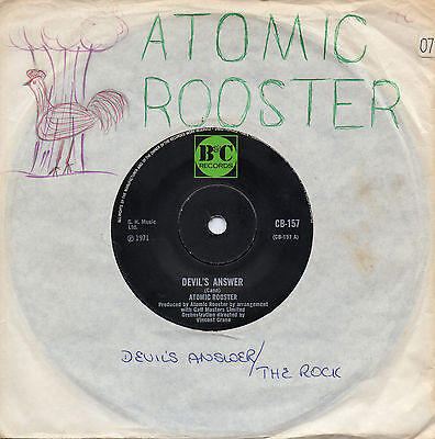 ATOMIC ROOSTER devil's answer*the rock 1971 UK B&C 45 + handmade sleeve