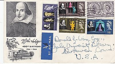 First day cover, Sc #402-6, Shakespeare Festival, 1964