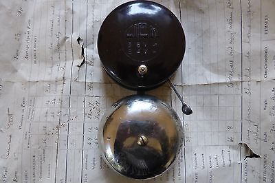 Art Deco Vintage Bakelite Round Electric Chrome Door Bell by Ciem - 6-9 volts