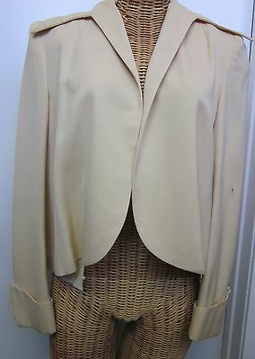 Vintage Ivory Small Blazer with Cuffs