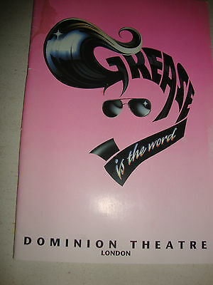 GREASE is the word  Programme -Dominion Theatre London 1994