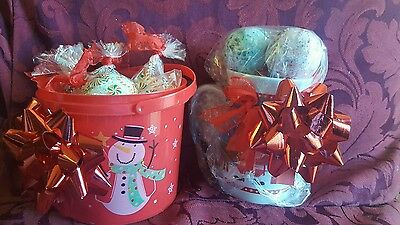 Set of 5 Bath Bomb gift set with scented candle. Gift for teachers. Do Terra oil