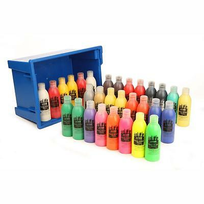 Ready Mixed Paint Assorted 30 x 300ml Set in Gratnell Tray Bulk Buy Brand New