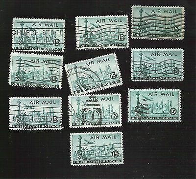 us stamps air mail  10 used C35   [75]