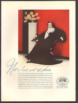"""BODY BY FISHER OCT 1933 """"No Hair Out Of Place"""" Original Print Ad"""