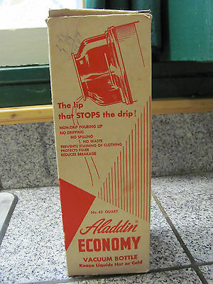Vintage-No-43-Aladdin-Economy-Vacuum-Bottle-Thermos-Box-Label-and Directions