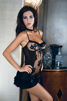 Sinful Bouquet Chemise and Thong Lingerie Set