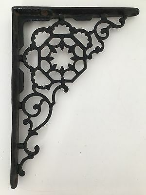 "Vintage Cast Iron 9"" X 7"" Ornate Shelf Bracket"