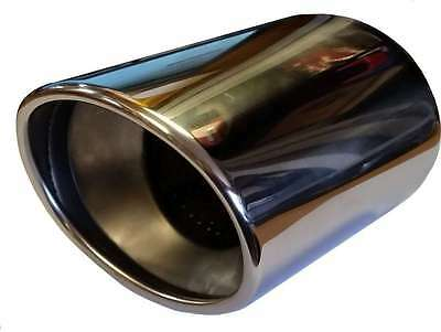 Lexus NX 120X70X180MM OVAL POSTBOX EXHAUST TIP TAIL PIPE CHROME WELD