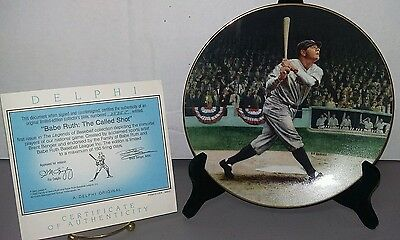 Babe Ruth : The Called Shot Collector Plate With Coa