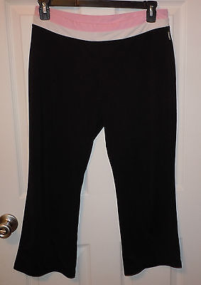 Women's Workout YOGA Running Sport Pants Cropped  Fitness Size XL