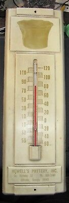 Hewell Georgia  Southern Pottery Advertising Thermometer
