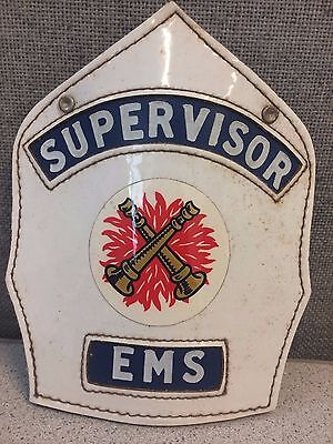 Supervisor EMS Fire Helmet Shield-Department Unknown