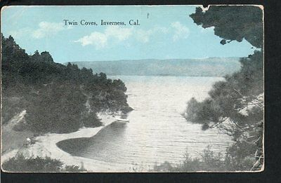 Vintage Postcard, TWIN COVES, INVERNESS, CAL, 1915