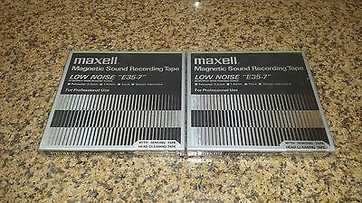 New 2 x Maxell 7-Inch Magnetic Sound Recording Tapes Low Noise E35-7 1800 Feet