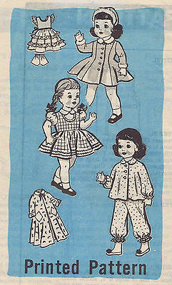 "9100 Vintage Marian Martin Chubby Doll Pattern - Size 14"" -- Year 1959"